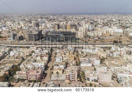 Aerial View Of Dakar