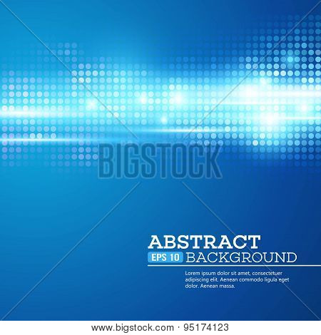 Abstract  bokhe lights background. Disco music. Vector illustration