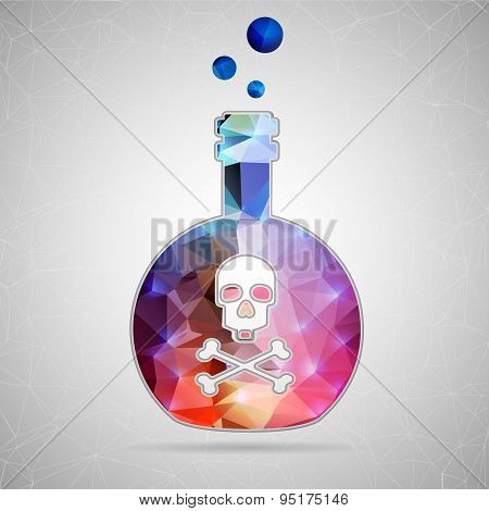 Abstract Creative concept vector icon of toxin for Web and Mobile Applications isolated on backgroun