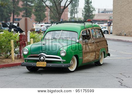 Ford Woodie Wagon Car On Display