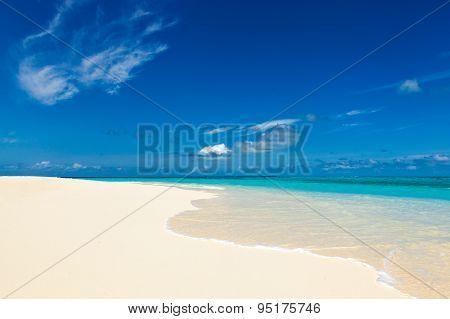 Paradise Wild Beach On The Caribbean