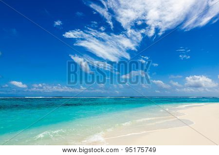 Paradise Wild Beach On The Caribbean