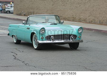 Ford Thunderbird Convertible Car On Display