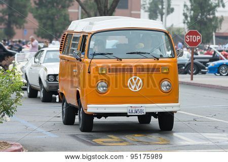 Classic Volkswagen Van On Display