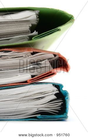 Stack Of Colorful Binders