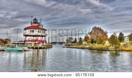 Drum Point Lighthouse In Maryland