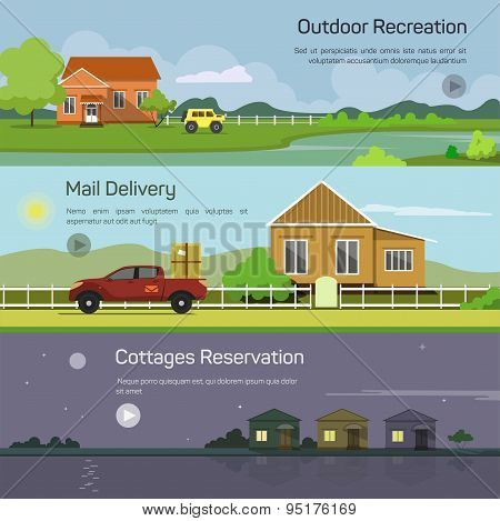 Outdoor recreation, mail delivery, cottages reservation