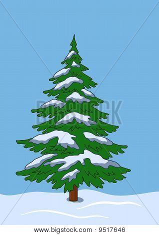 Árbol de la piel bajo la nieve en el Ventisquero