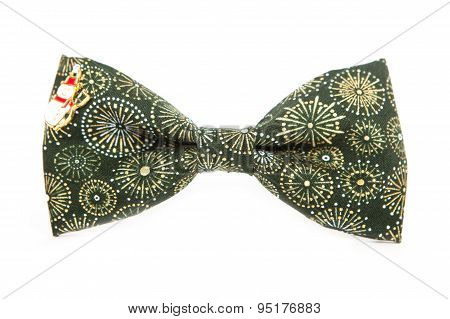 Winter Bow tie isolated on white background. Accessory