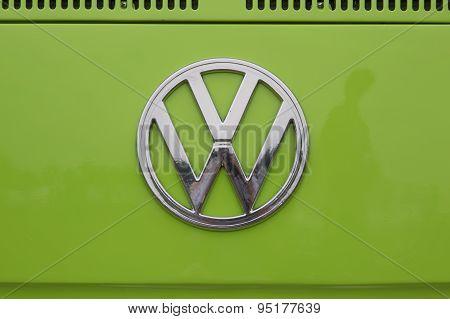 1971 Volkswagen Vw Van Green Symbol