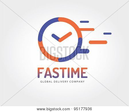 Abstract watch vector logo template for branding and design