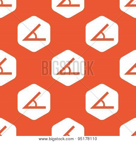 Orange hexagon angle pattern