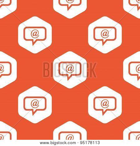 Orange hexagon mail message pattern