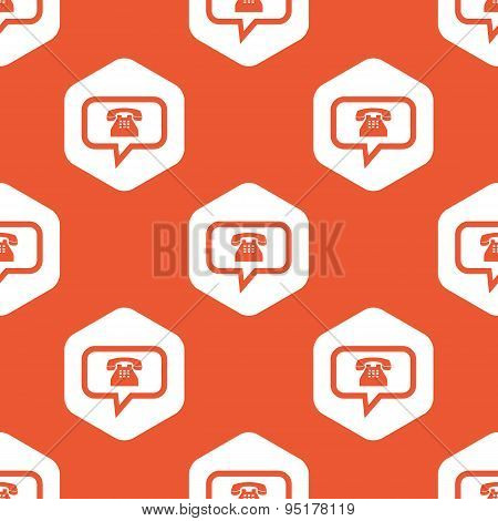 Orange hexagon phone message pattern