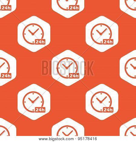 Orange hexagon 24h clock pattern
