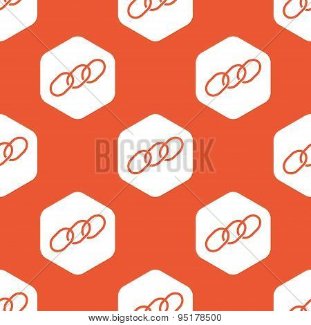 Orange hexagon chain pattern