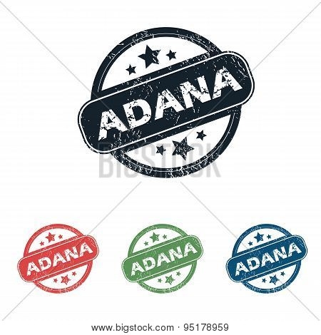 Round Adana city stamp set