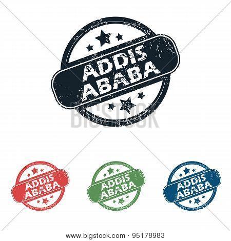 Round Addis Ababa stamp set