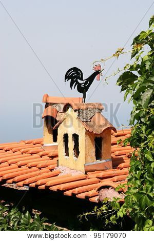 Cockerel weather vane