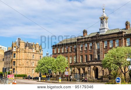 View Of Leith Academy In Edinburgh - Scotland