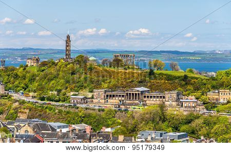 View Of Calton Hill From Holyrood Park - Edinburgh, Scotland