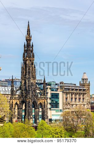 View Of The Monument To Sir Walter Scott In Edinburgh