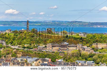 View Of Calton Hill From Holyrood Park - Edinburgh, Scotland