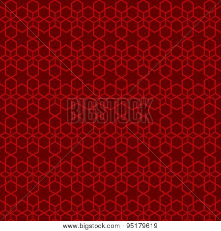 Seamless vintage Chinese window tracery star line pattern background.