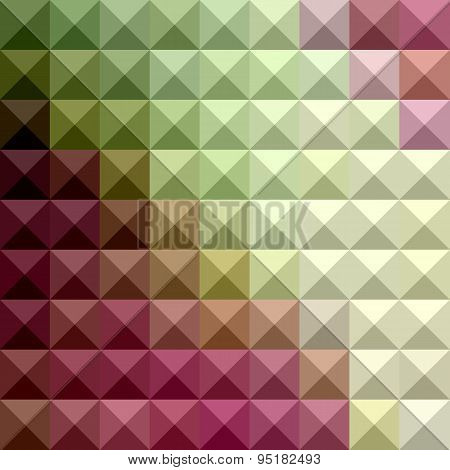 Deep Mauve Purple And Green Abstract Low Polygon Background