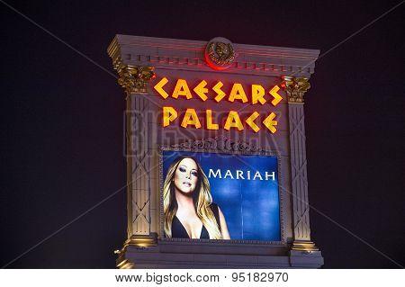 Mariah Carey 'mariah 1 To Infinity' Poster In Las Vegas