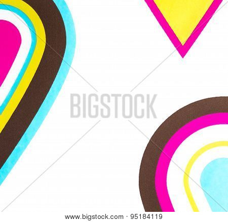 Colorful Drops Fantasy Pattern Wallpaper On White Background