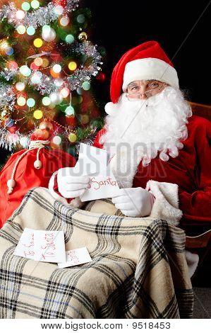 Santa Reading Letters