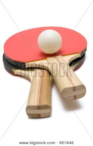 Two Ping Pong Paddles W/ Ball