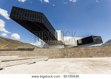 Pomasqui, Ecuador - April 15:  Building Unasur, Union Of South American Nations. It Is One Of The Mo