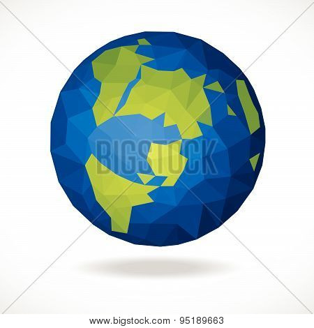Blue green World low poly vector abstract