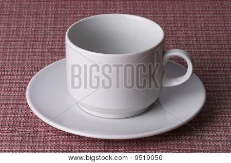 Vasito de café blanco