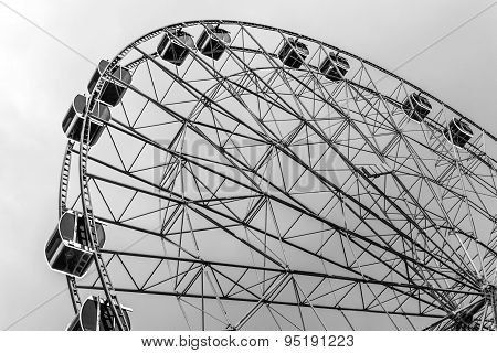 Ferris Wheel And Dark Sky