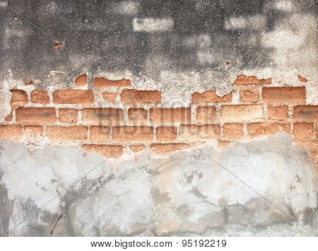 Vintage Brick Wall Background.