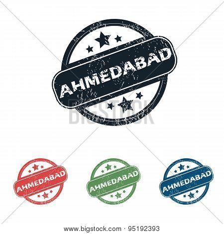 Round Ahmedabad city stamp set