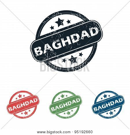 Round Baghdad city stamp set