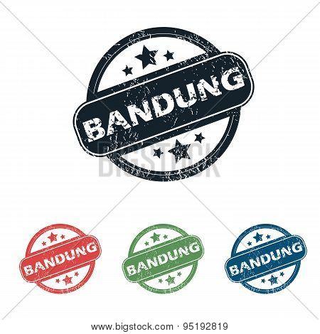 Round Bandung city stamp set