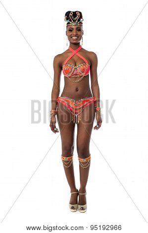 Samba Dancer In Her Attire
