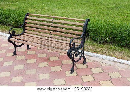 Decorative Bench In Public Area