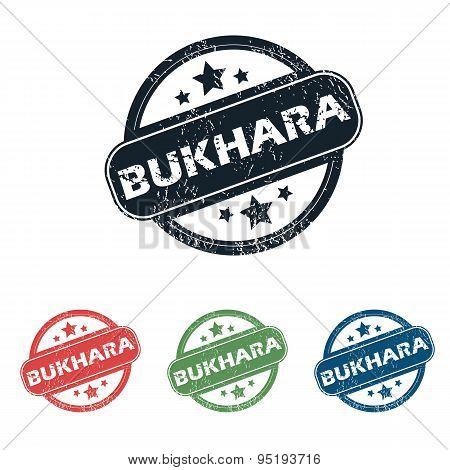 Round Bukhara city stamp set