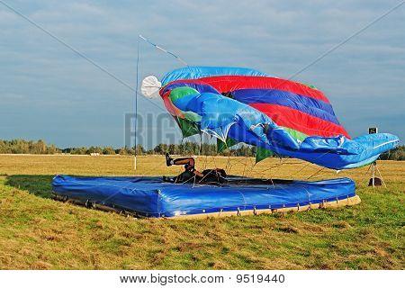 Landing Of The Parachutist