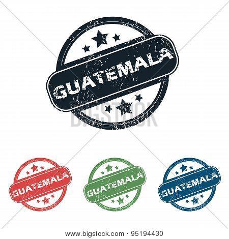 Round Guatemala city stamp set