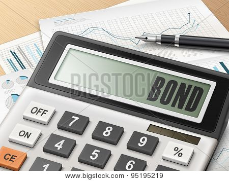 Calculator With The Word Bond
