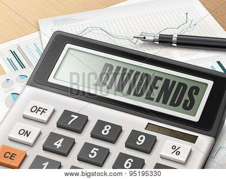 Calculator With The Word Dividends