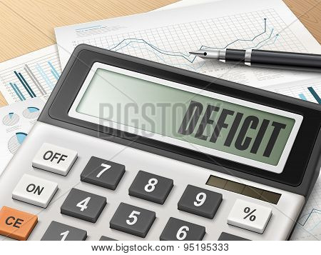 Calculator With The Word Deficit