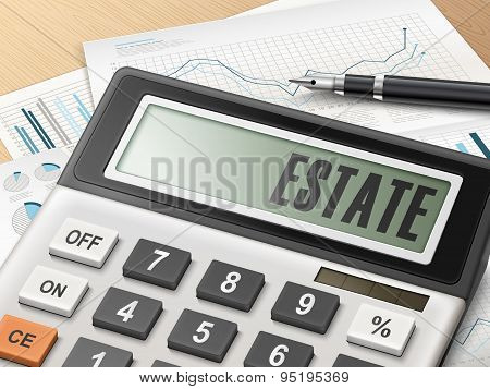Calculator With The Word Estate